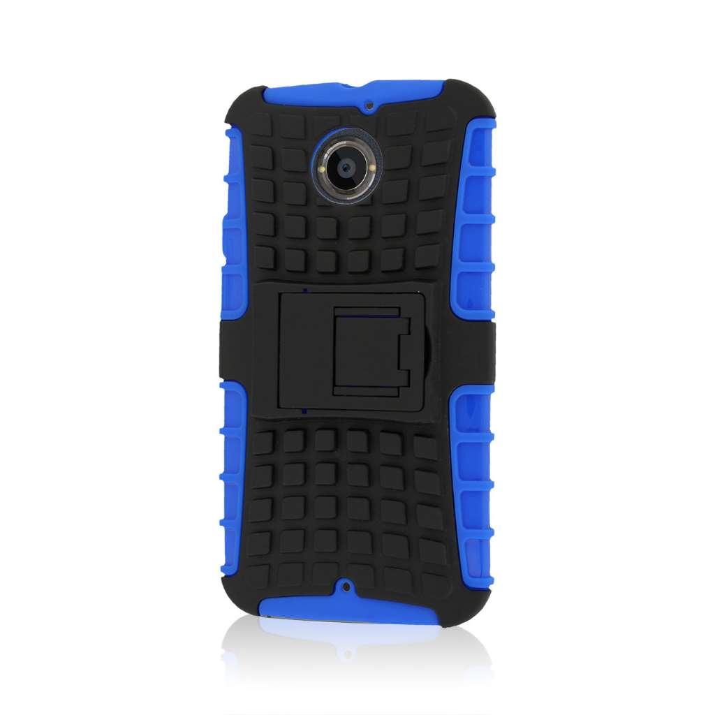 Motorola Moto X 2014 2nd Gen - Blue MPERO IMPACT SR - Kickstand Case Cover