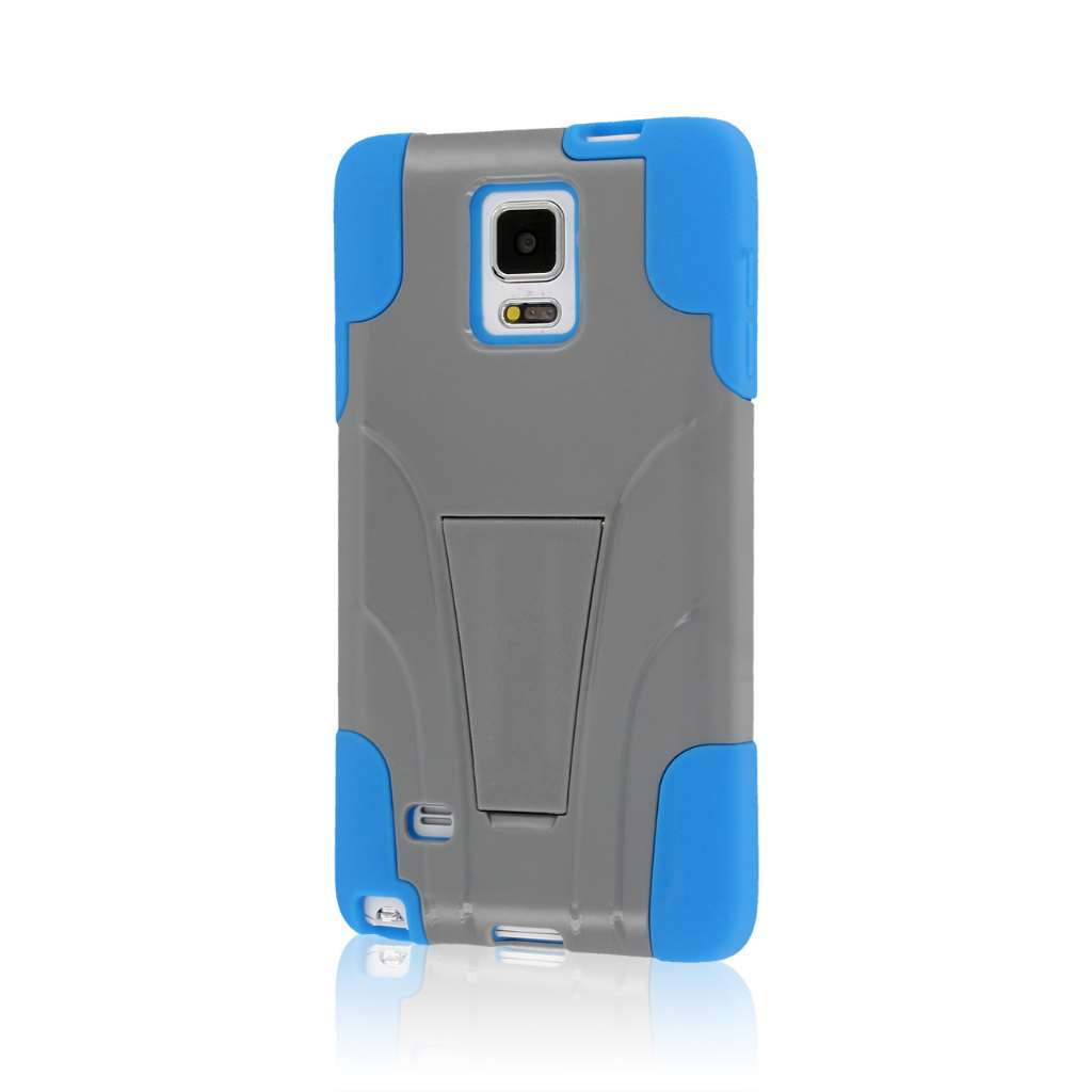 Samsung Galaxy Note 4 - Blue / Gray MPERO IMPACT X - Kickstand Case Cover