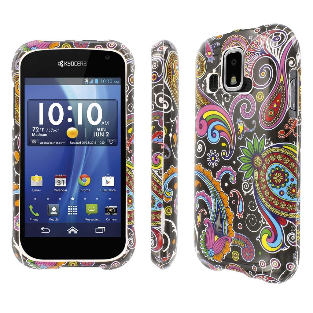 Kyocera Hydro XTRM MPERO Full Protection Black Paisley Case Cover