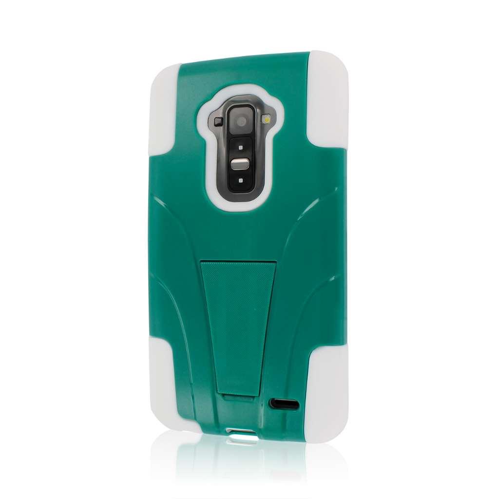 LG G Flex LS995 D950 D959 - Teal Green MPERO IMPACT X - Kickstand Case Cover