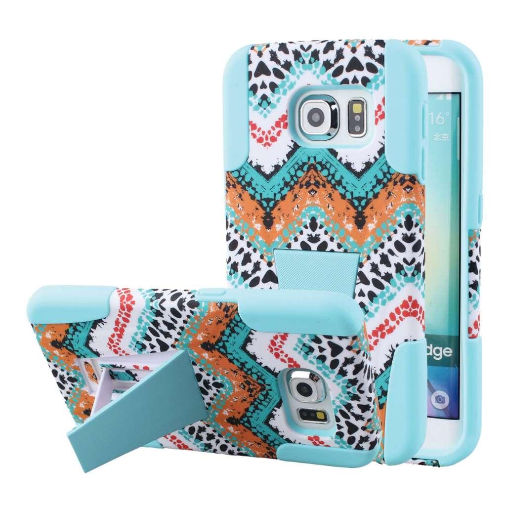 Samsung Galaxy S6 Edge - Aqua Safari MPERO IMPACT X - Kickstand Case Cover