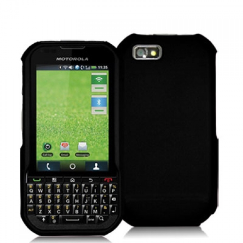 Motorola Titanium i1X Black Hard Rubberized Case Cover