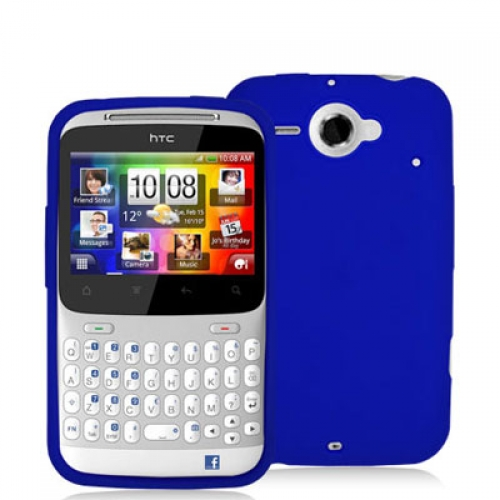 HTC Status Blue Silicone Soft Skin Case Cover