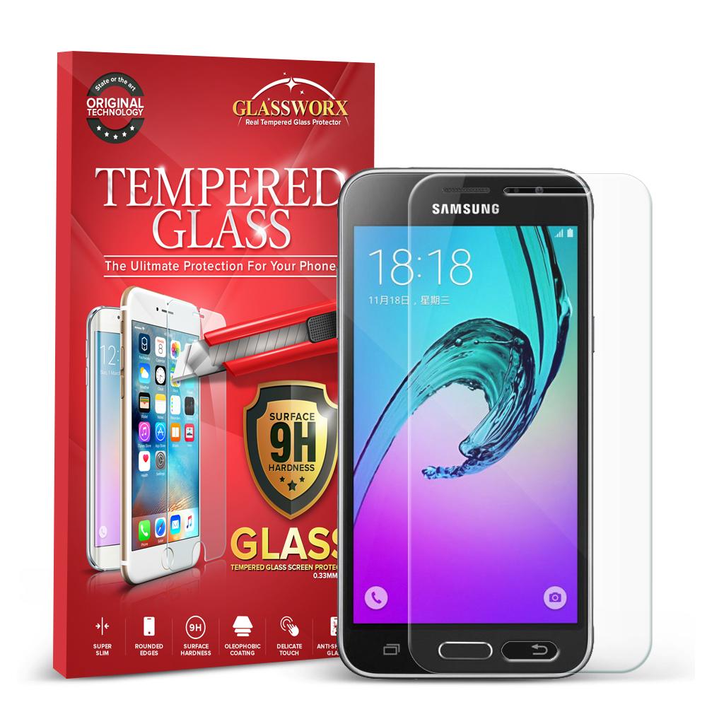 Samsung Galaxy J3 J320 / Amp Prime / Express Prime / J3V / SKY / SOL GlassWorX HD Clear Tempered Glass Screen Protector