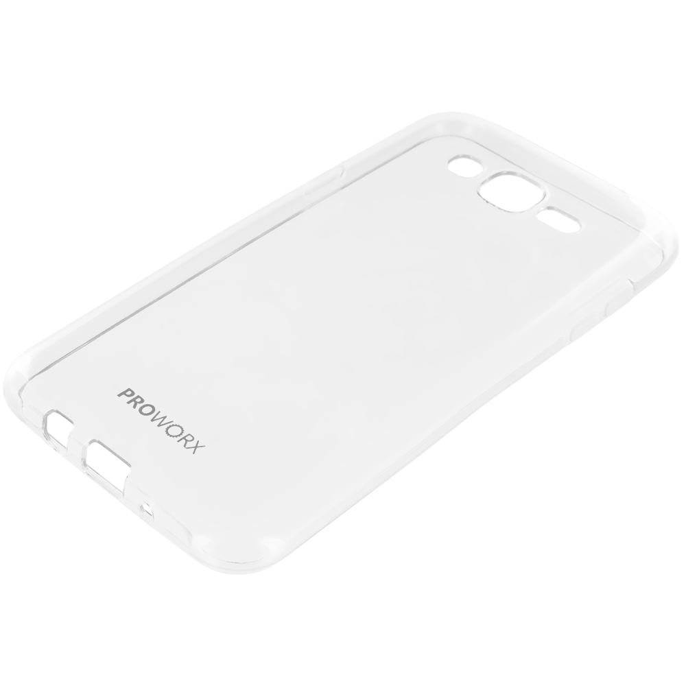 Samsung Galaxy J7 Clear ProWorx Ultra Slim Thin Scratch Resistant TPU Silicone Case Cover