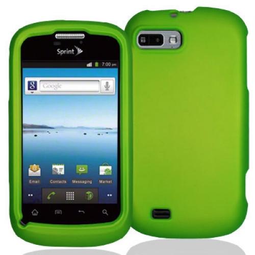 ZTE Fury N850 Neon Green Hard Rubberized Case Cover