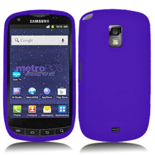 Samsung Galaxy S Lightray 4G R940 Purple Silicone Soft Skin Case Cover