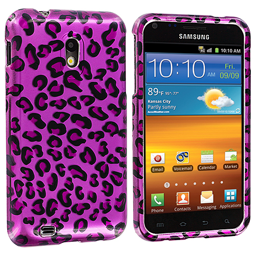 Samsung Epic Touch 4G D710 Sprint Galaxy S2 Purple Leopard Design Crystal Hard Case Cover