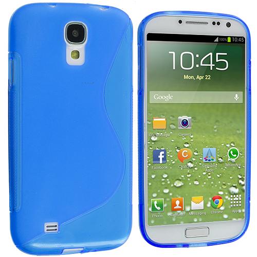 Samsung Galaxy S4 Blue S-Line TPU Rubber Skin Case Cover