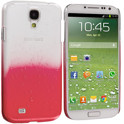 Samsung Galaxy S4 Red Crystal Raindrop Hard Case Cover