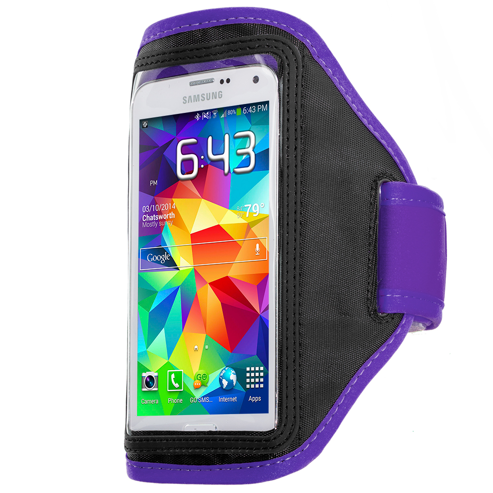 Samsung Galaxy S5 Purple Running Sports Gym Armband