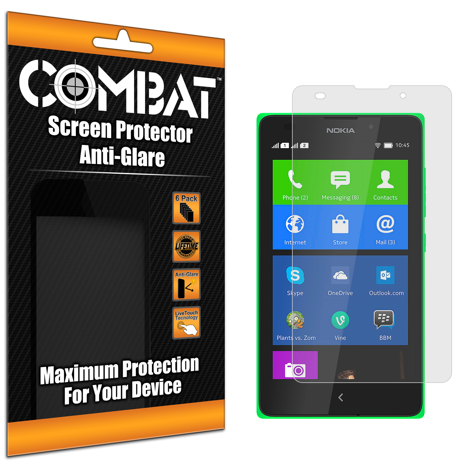 Nokia XL Combat 6 Pack Anti-Glare Matte Screen Protector