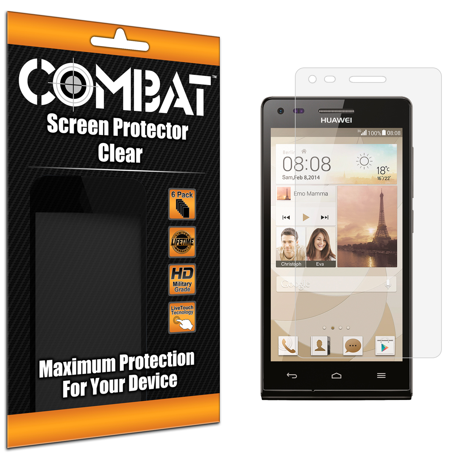 Huawei Ascend P7 Mini Combat 6 Pack HD Clear Screen Protector