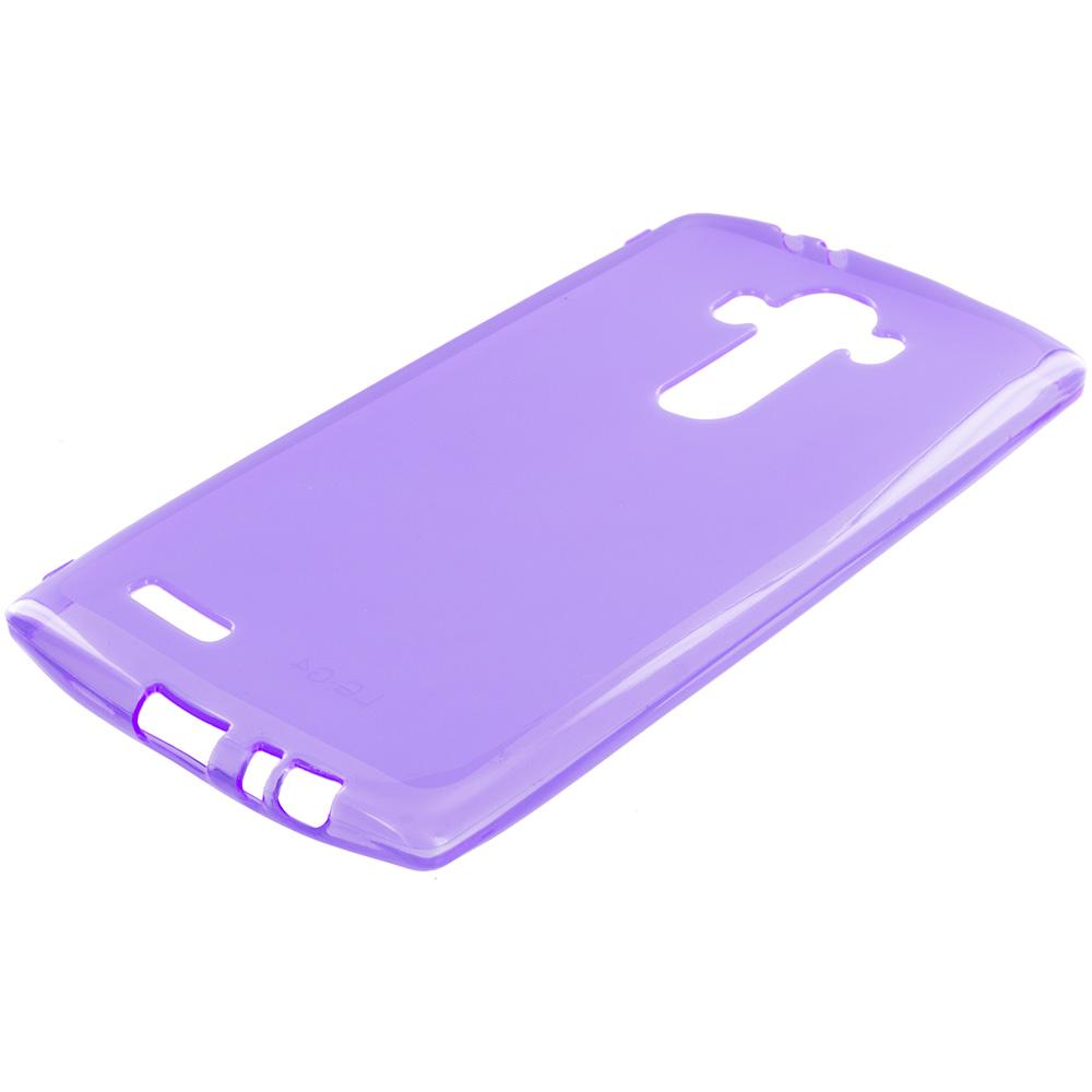 LG G4 Purple TPU Rubber Skin Case Cover