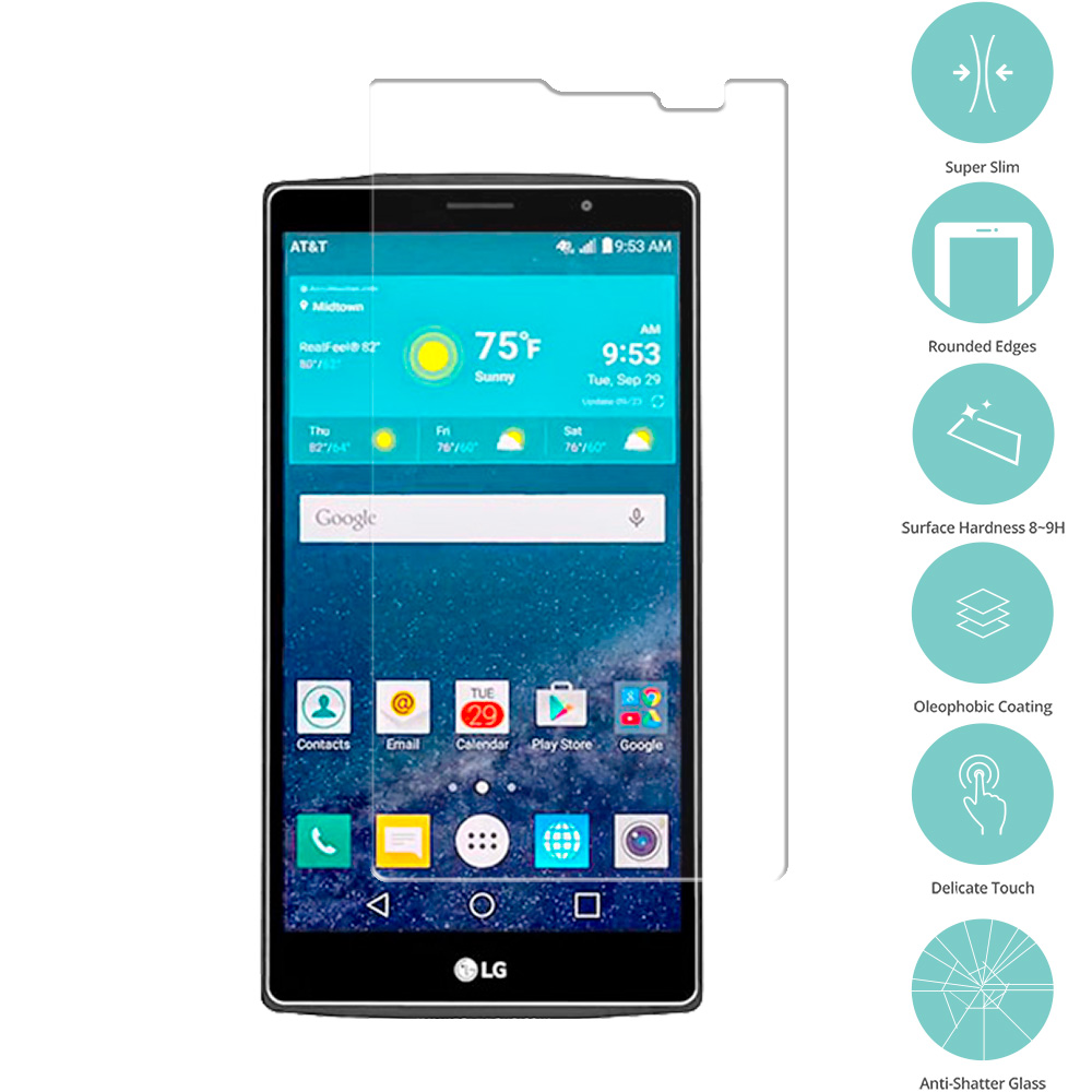 LG G Vista 2 Clear Tempered Glass Film Screen Protector Clear