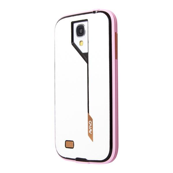 Samsung Galaxy S4 Avivo Pink Frame and White Carbon Jacket Case
