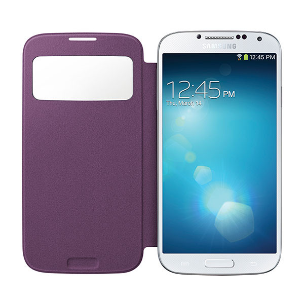 Galaxy S4 - Purple Samsung S-View Case