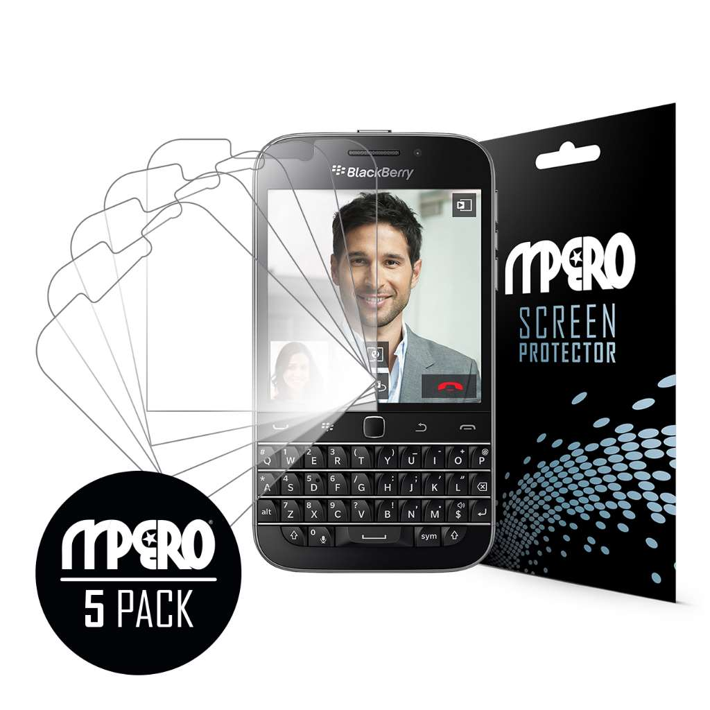 BlackBerry Classic MPERO 5 Pack of Ultra Clear Screen Protectors