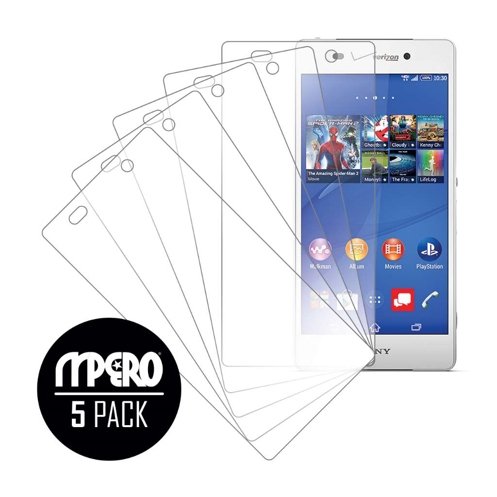Sony Xperia Z3v MPERO 5 Pack of Ultra Clear Screen Protectors