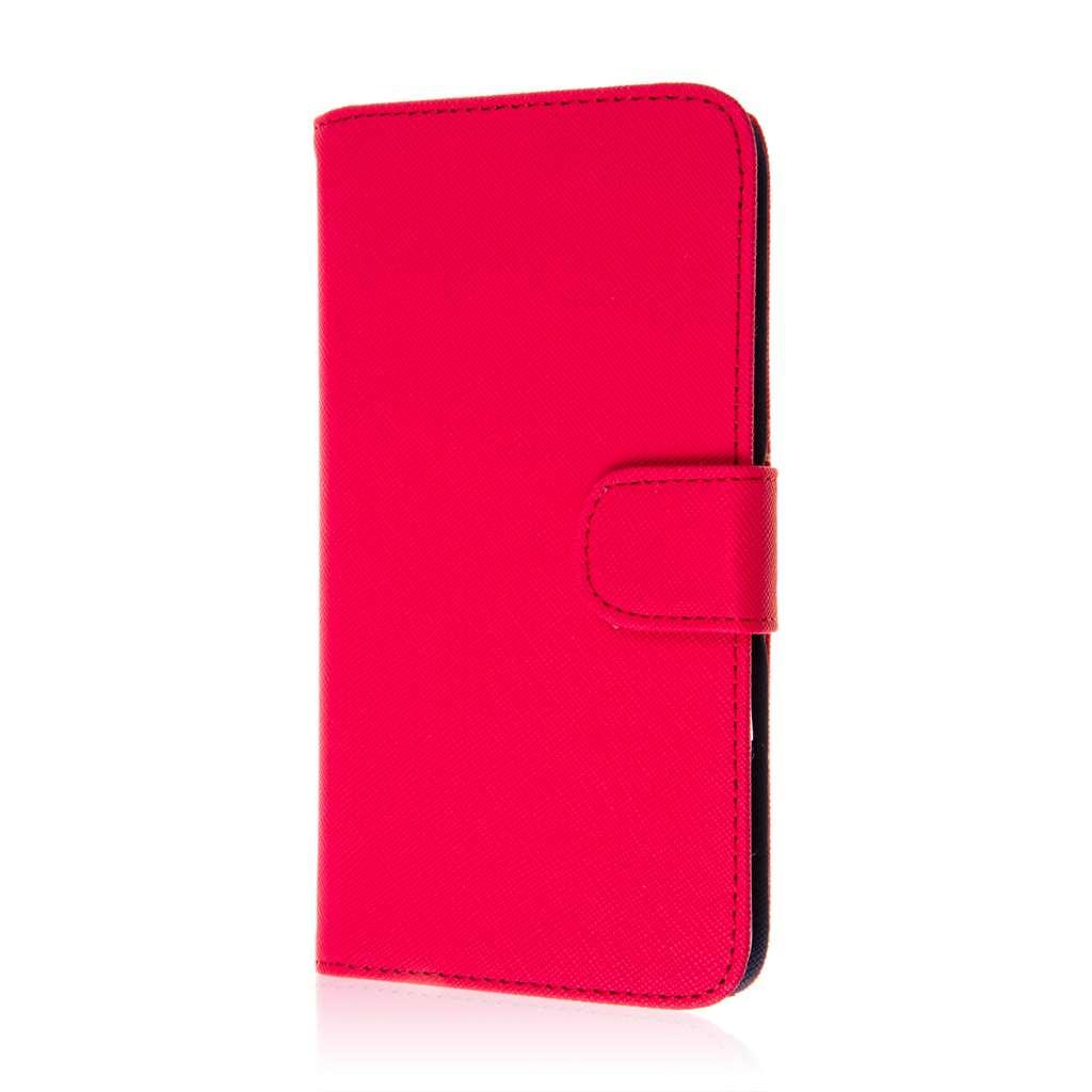 HTC Desire 816 - Hot Pink MPERO FLEX FLIP Wallet Case Cover
