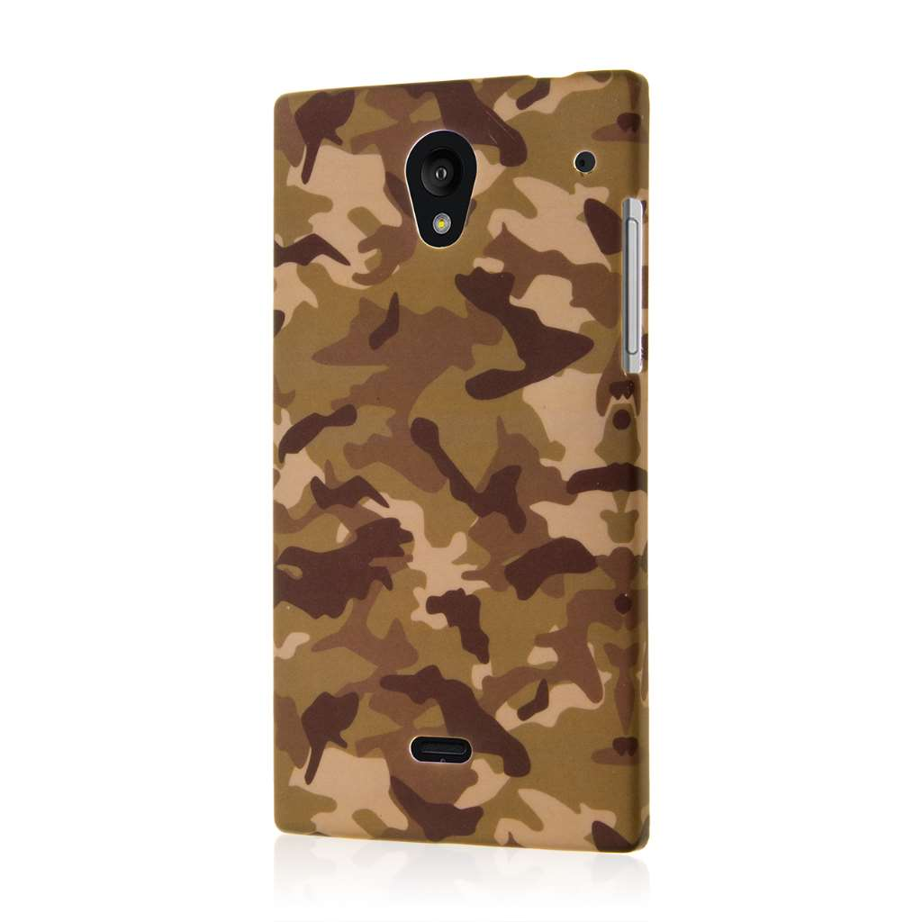 Sharp AQUOS Crystal - Green Camo MPERO SNAPZ - Case Cover