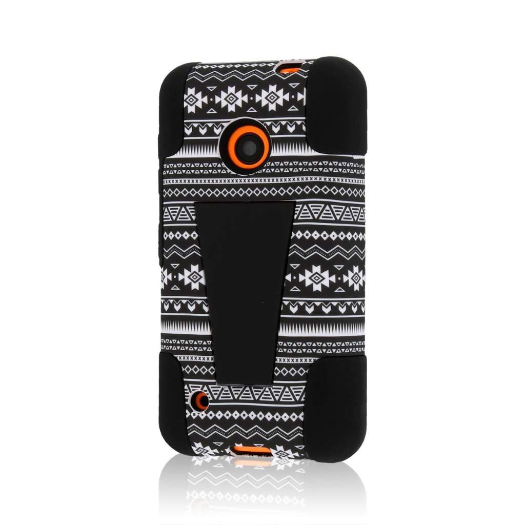 Nokia Lumia 530 - Black Aztec MPERO IMPACT X - Kickstand Case Cover