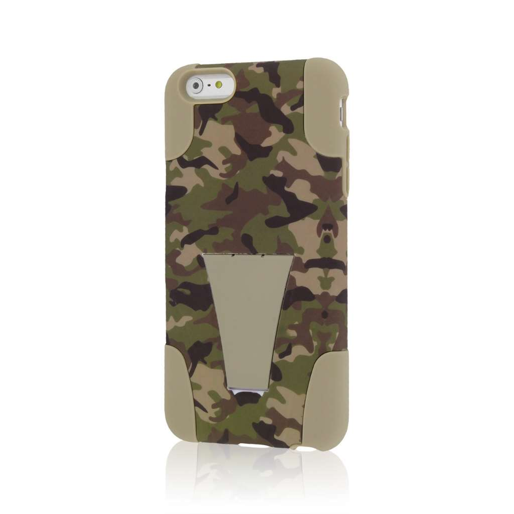 Apple iPhone 6 6S Plus - Hunter Camo MPERO IMPACT X - Kickstand Case Cover