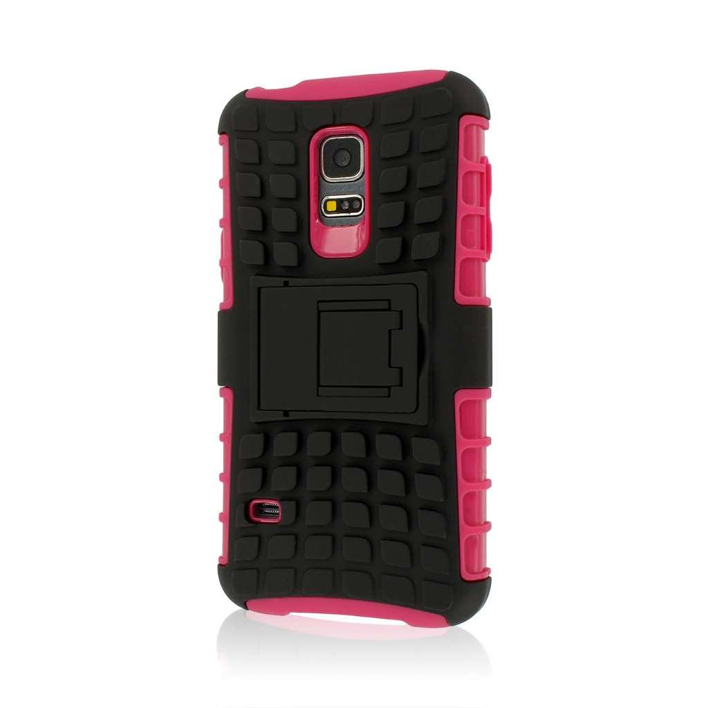 Samsung Galaxy S5 Mini - Hot Pink MPERO IMPACT SR - Kickstand Case Cover