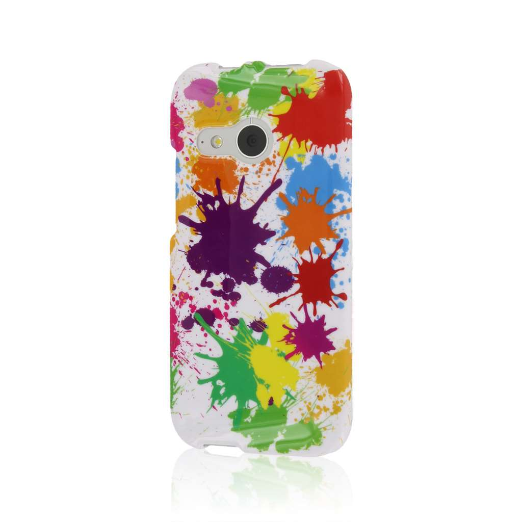HTC One Mini 2 - White Paint Splatter MPERO SNAPZ - Case Cover