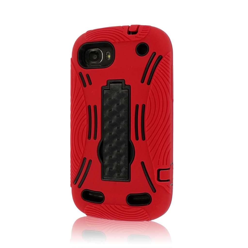 ZTE Warp Sequent N861 - Red MPERO IMPACT XL - Kickstand Case Cover