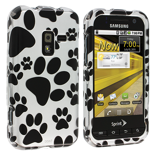 Samsung Conquer 4G D600 Dog Paw Design Crystal Hard Case Cover