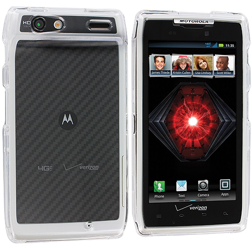 Motorola Droid Razr XT912 Clear Crystal Transparent Hard Case Cover