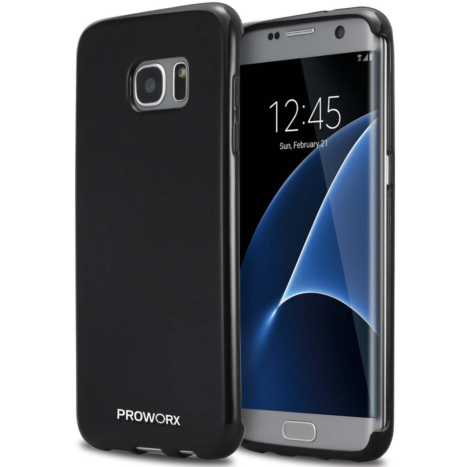 Samsung Galaxy S7 Edge Black ProWorx Ultra Slim Thin Scratch Resistant TPU Silicone Case Cover