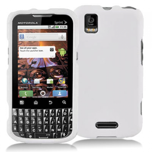 Motorola Xprt White Hard Rubberized Case Cover