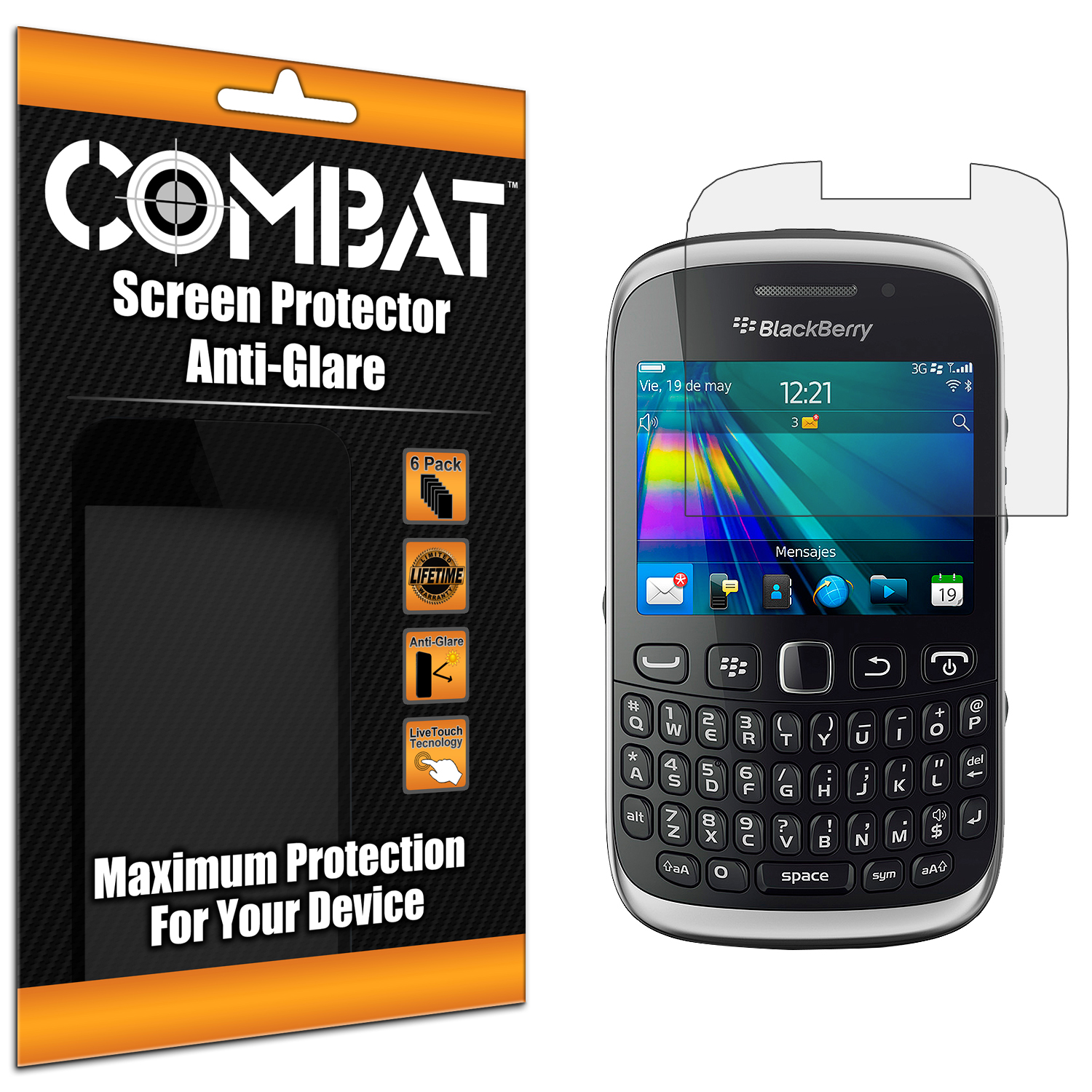 BlackBerry Curve 9315 / 9320 Combat 6 Pack Anti-Glare Matte Screen Protector