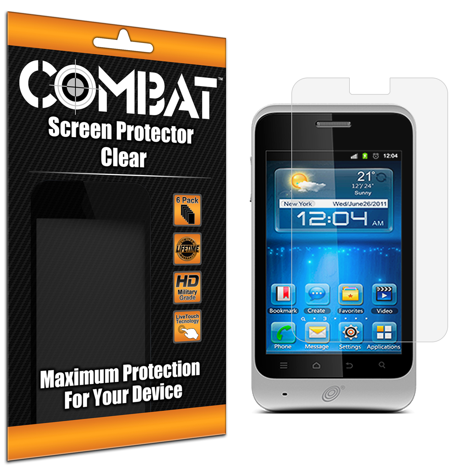 ZTE Illustra Z788G Combat 6 Pack HD Clear Screen Protector