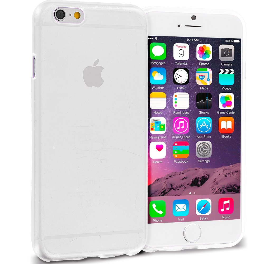 Apple iPhone 6 Clear (Transparent) TPU Rubber Skin Case Cover