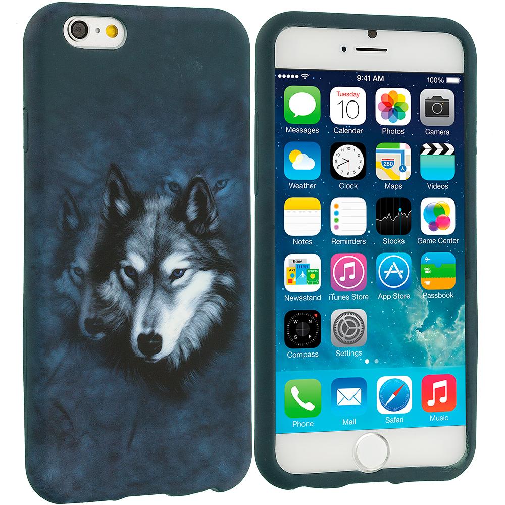 Apple iPhone 6 Plus 6S Plus (5.5) Wolf TPU Design Soft Rubber Case Cover