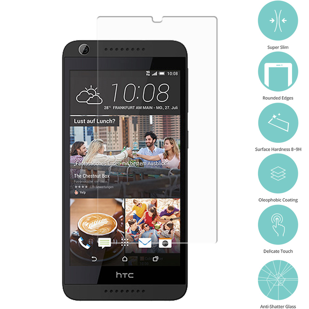 HTC Desire 626 / 626s Clear Tempered Glass Film Screen Protector Clear