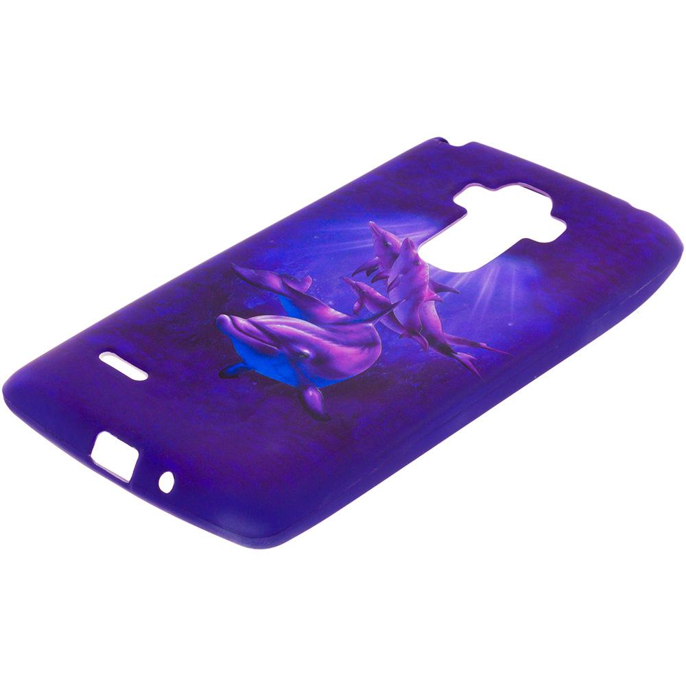LG G Stylo Purple Dolphin TPU Design Soft Rubber Case Cover