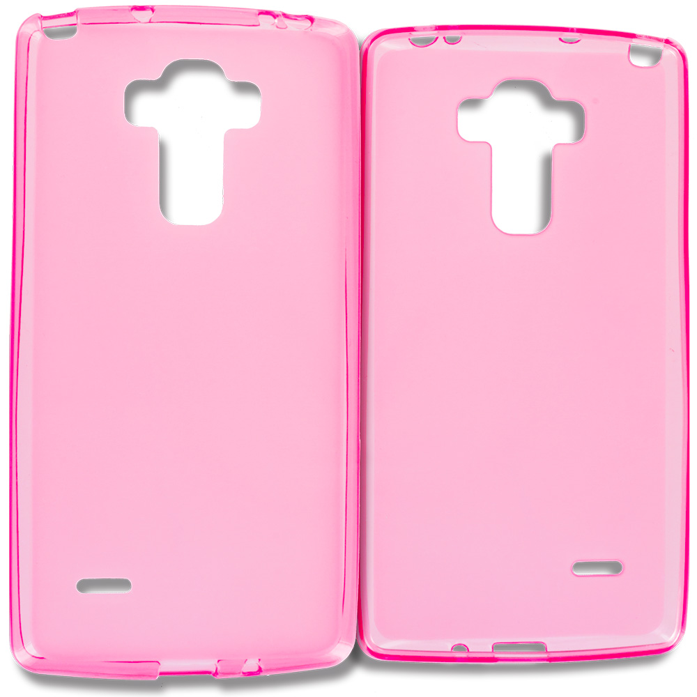 LG G Vista 2 Hot Pink TPU Rubber Skin Case Cover