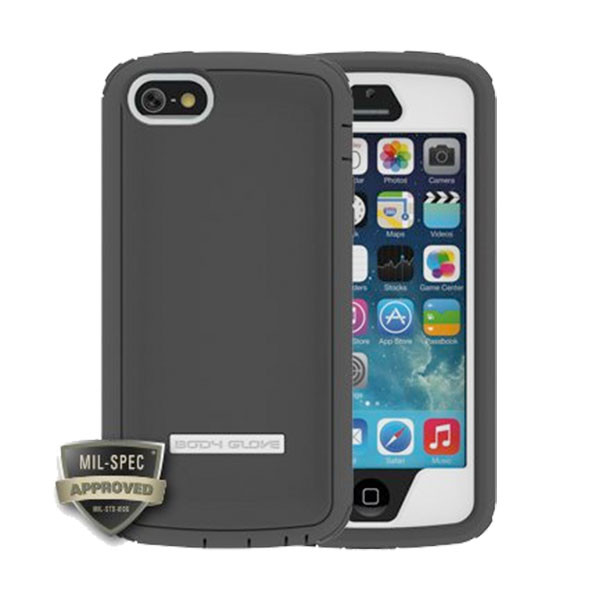 iPhone 5/5S/SE - White/Grey BodyGlove ToughSuit Case Cover