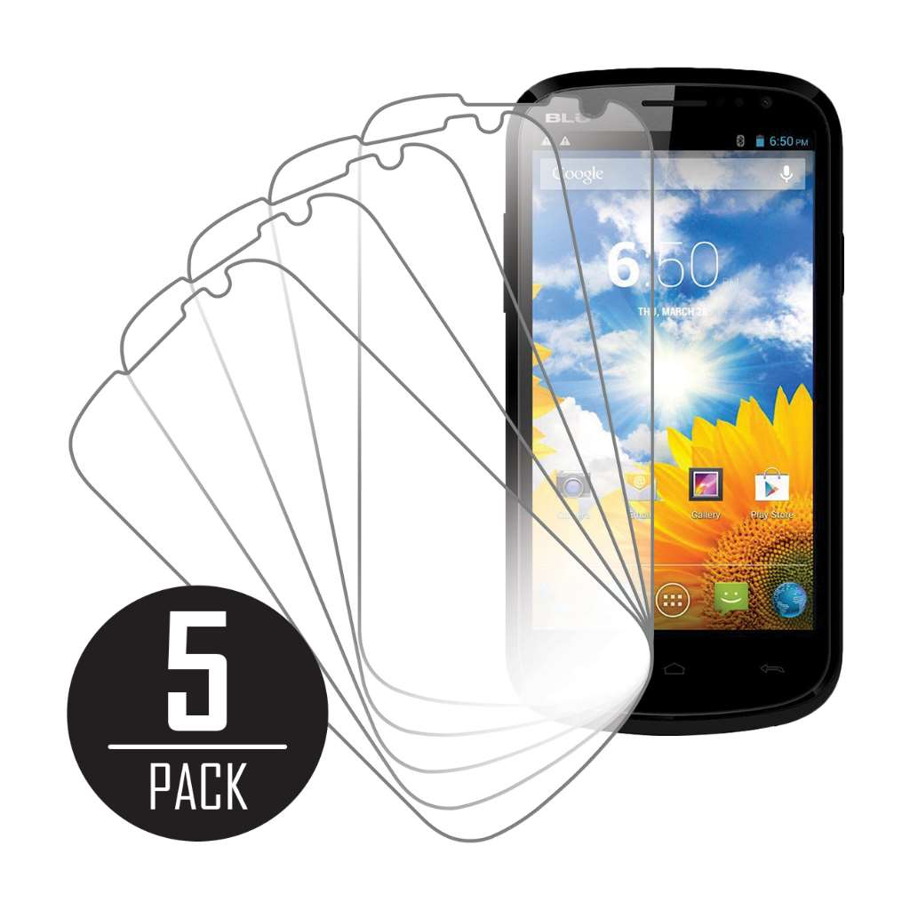 BLU Dash 4.5 MPERO 5 Pack of Clear Screen Protector Film Guard