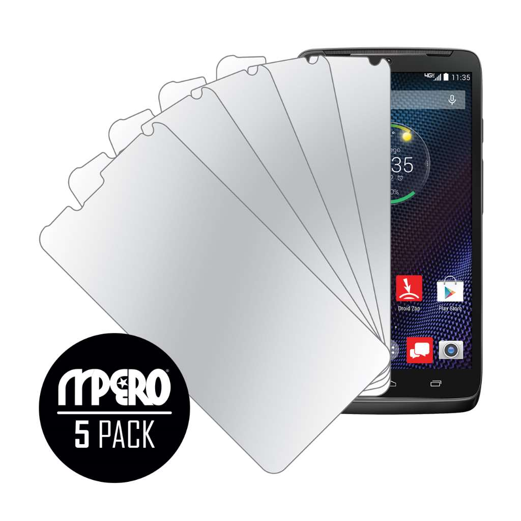 Motorola DROID TURBO MPERO 5 Pack of Mirror Screen Protectors