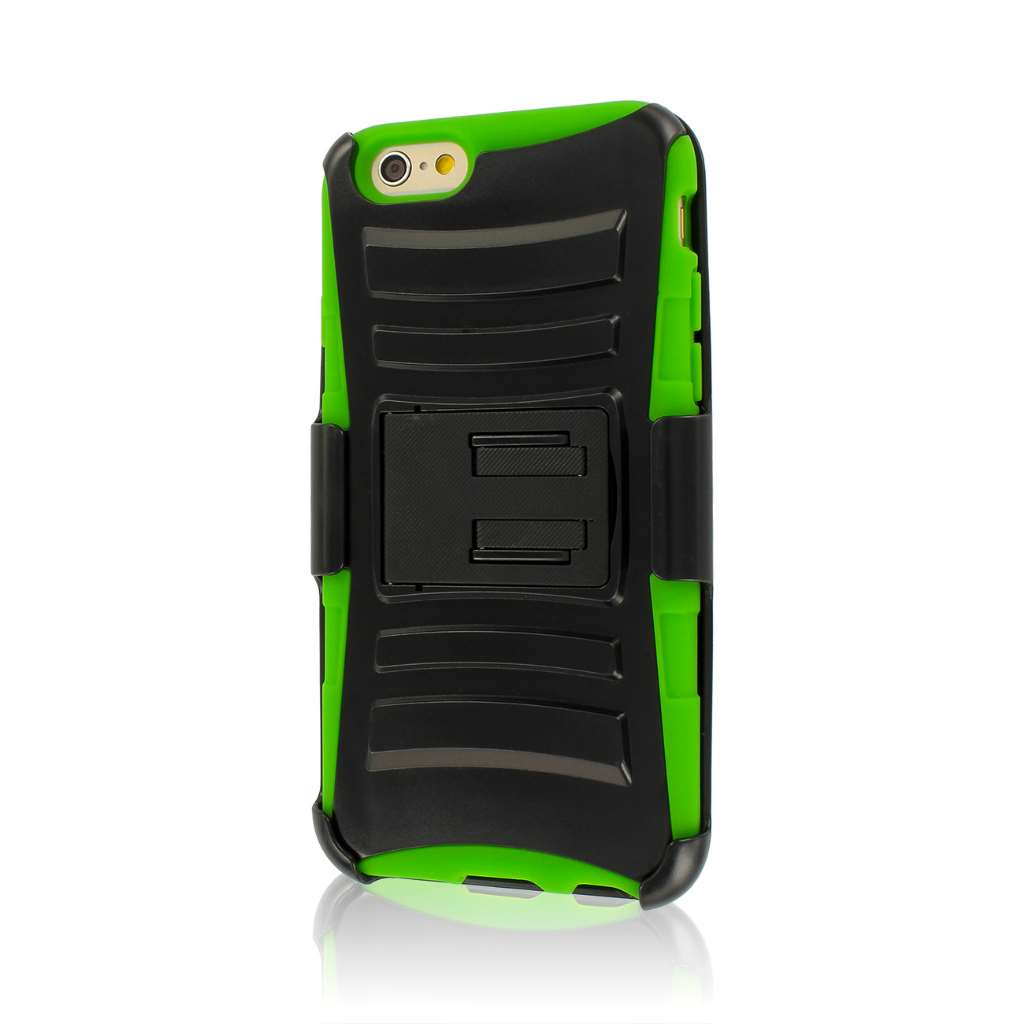 Apple iPhone 6/6S - Neon Green MPERO IMPACT XT - Kickstand Case Cover