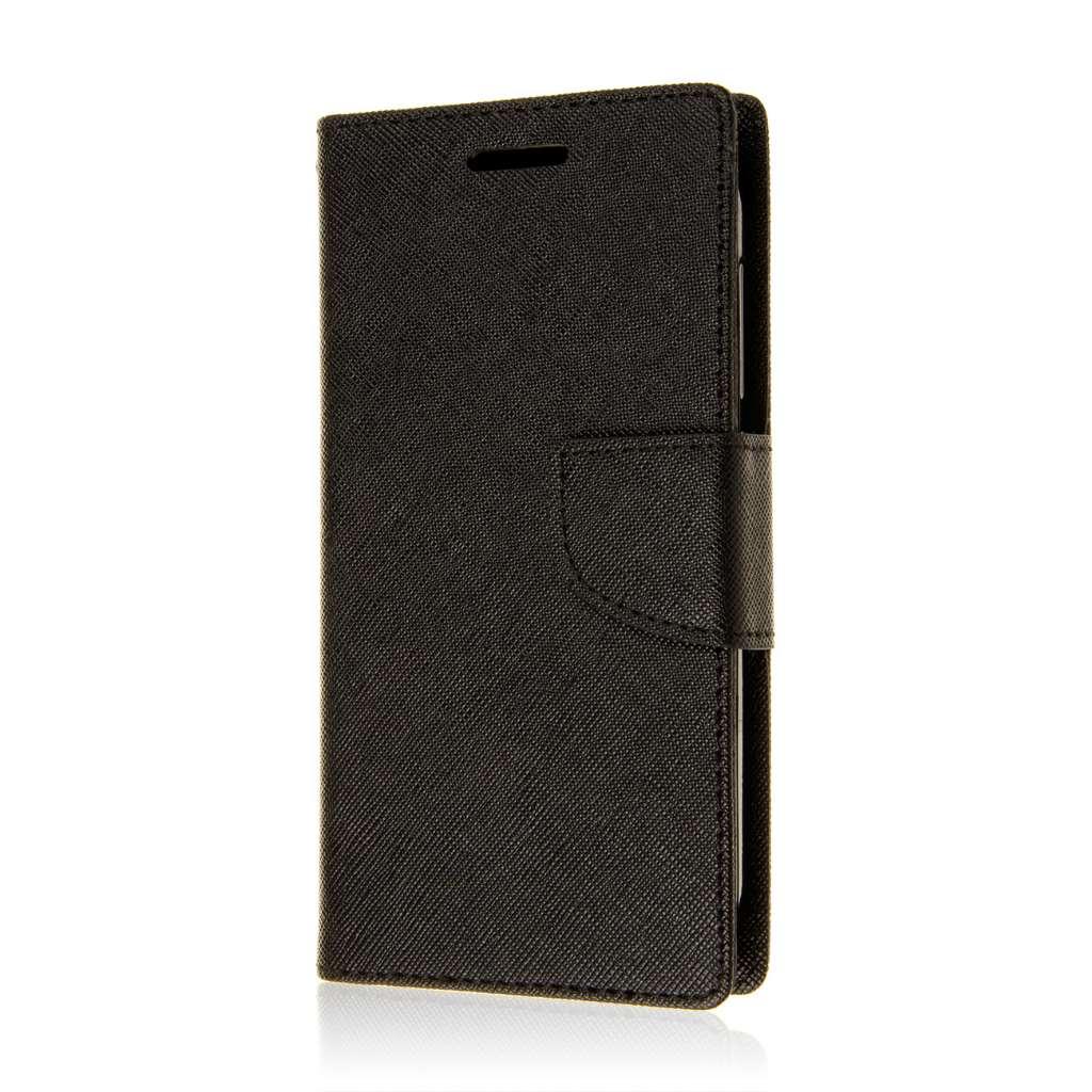 Motorola Moto G 2nd Gen 2014 - Black MPERO FLEX FLIP 2 Wallet Stand Case