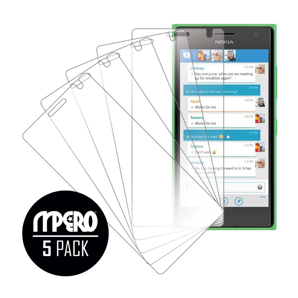 Nokia Lumia 730 MPERO 5 Pack of Ultra Clear Screen Protectors