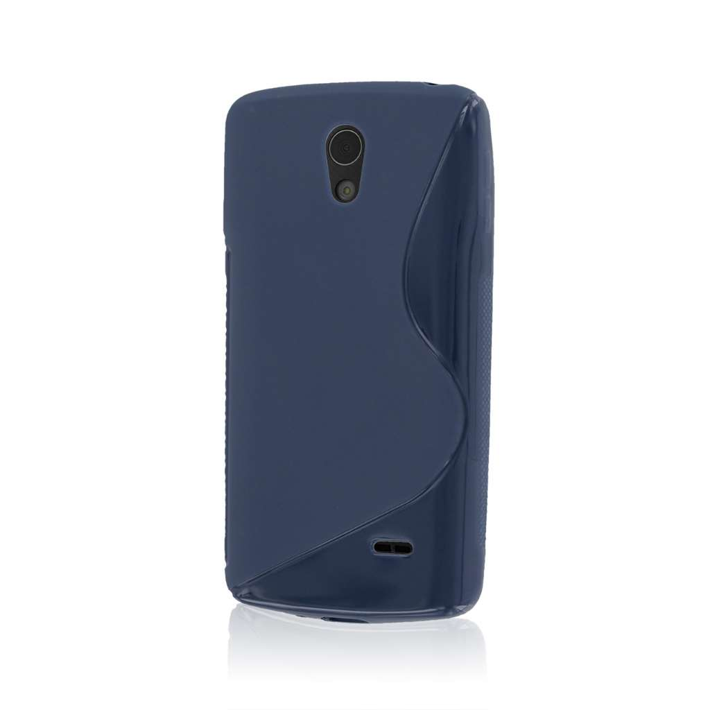 LG Lucid 3 - Navy Blue MPERO FLEX S - Protective Case Cover