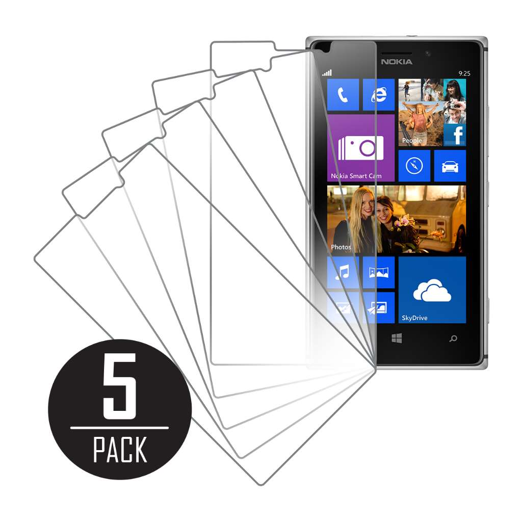 Nokia Lumia 925 MPERO 5 Pack of Clear Screen Protectors
