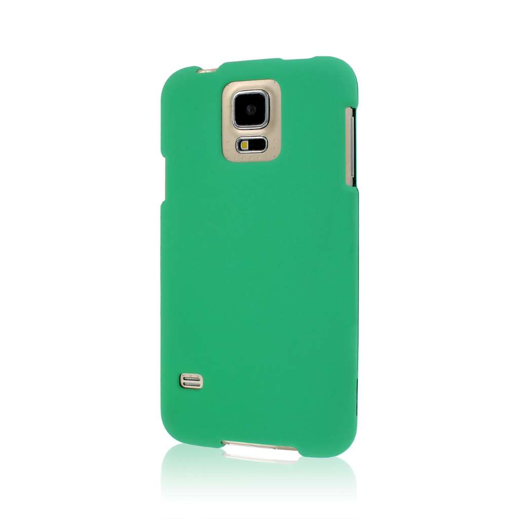 Samsung Galaxy S5 - Mint Green MPERO SNAPZ - Rubberized Case Cover